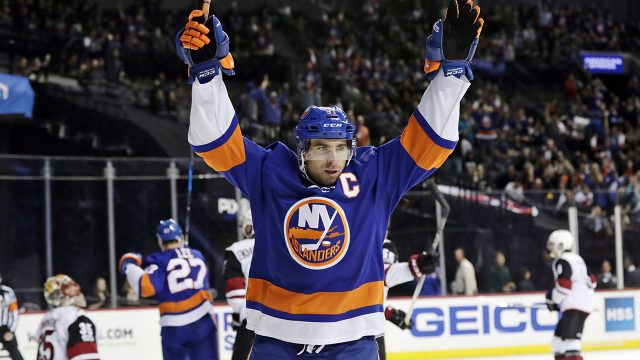 New-York-Islanders-centre-John-Tavares-celebrates-after-scoring-a-goal-against-Arizona-Coyotes-during-the-2017–18-NHL-season