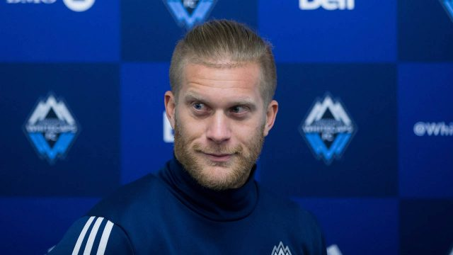 Vancouver-Whitecaps'-Marcel-de-Jong-waits-to-speak-to-reporters-during-a-news-conference-after-the-MLS-soccer-team-was-eliminated-from-the-playoffs-last-week,-in-Vancouver,-B.C.,-on-Tuesday-November-7,-2017.-(Darryl-Dyck/CP)