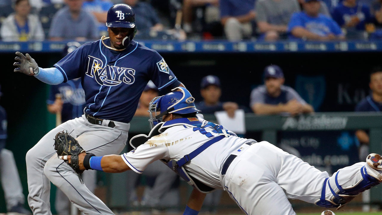 Rays beat Royals after Hechavarria avoids tag by Perez at home ...