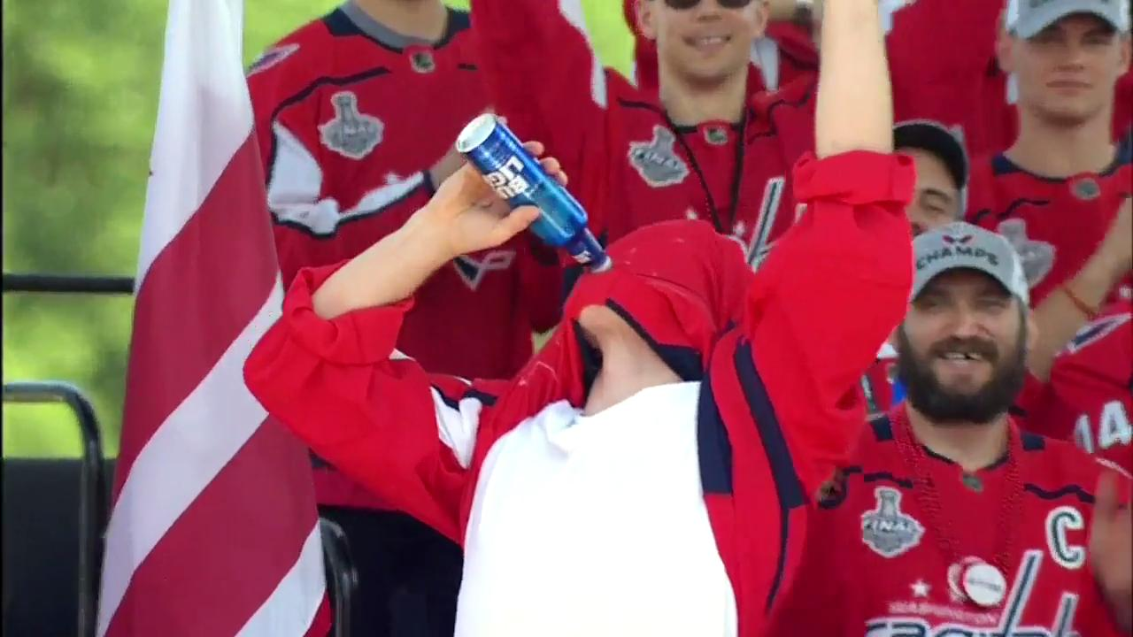 release date: d3430 c3bf4 Oshie explains why Caps' mates make him drink through jersey