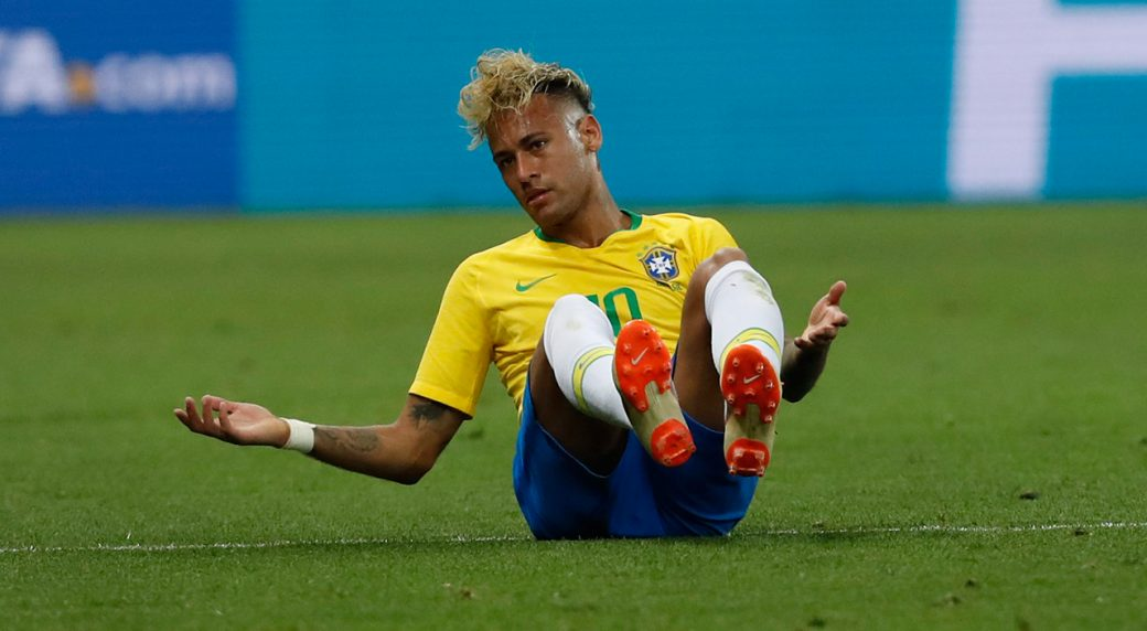 Brazil-Neymar-on-ground-during-World-Cup