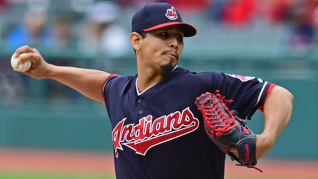 Indians-Carlos-Carrasco-pitches-against-Brewers