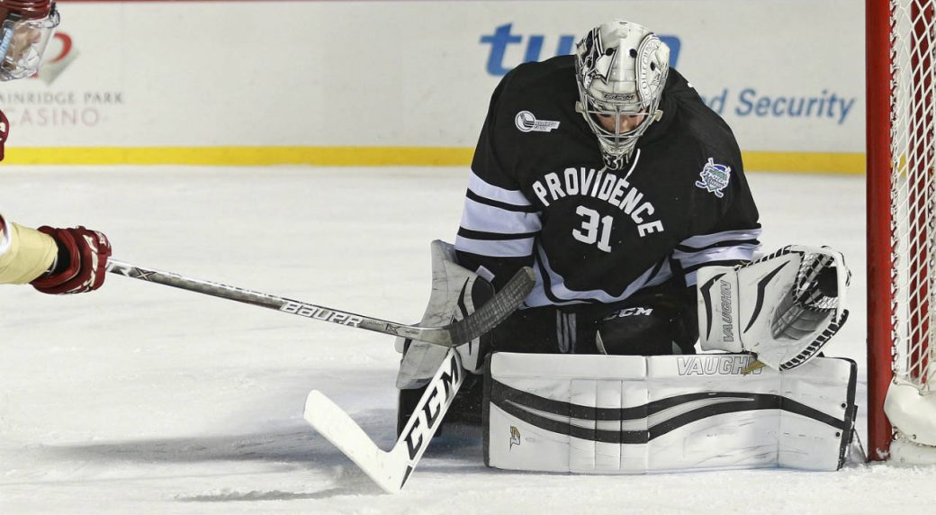 Providence-goalie-Hayden-Hawkey.-(Matt-West/The-Boston-Herald-via-AP)