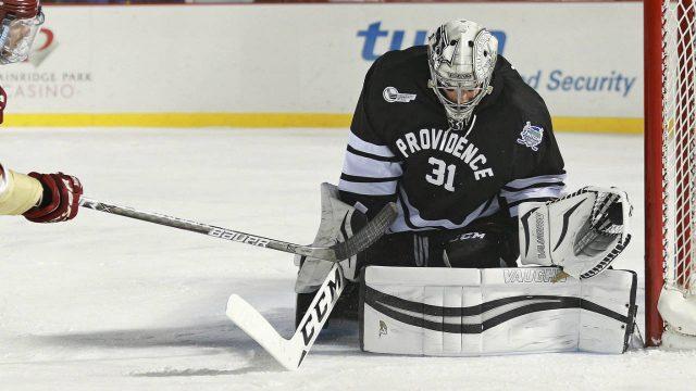 Providence-goalie-Hayden-Hawkey.-(Matt-West/The-Boston-Herald-via-AP)