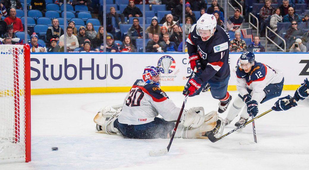 Casey-Mittelstadt-scores-goal-2018-world-juniors-Team-USA-Buffalo