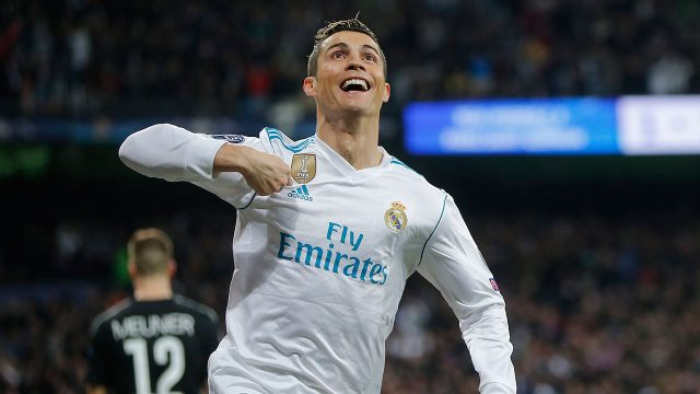 Soccer-Ronaldo-celebrates-goal-during-Champions-League