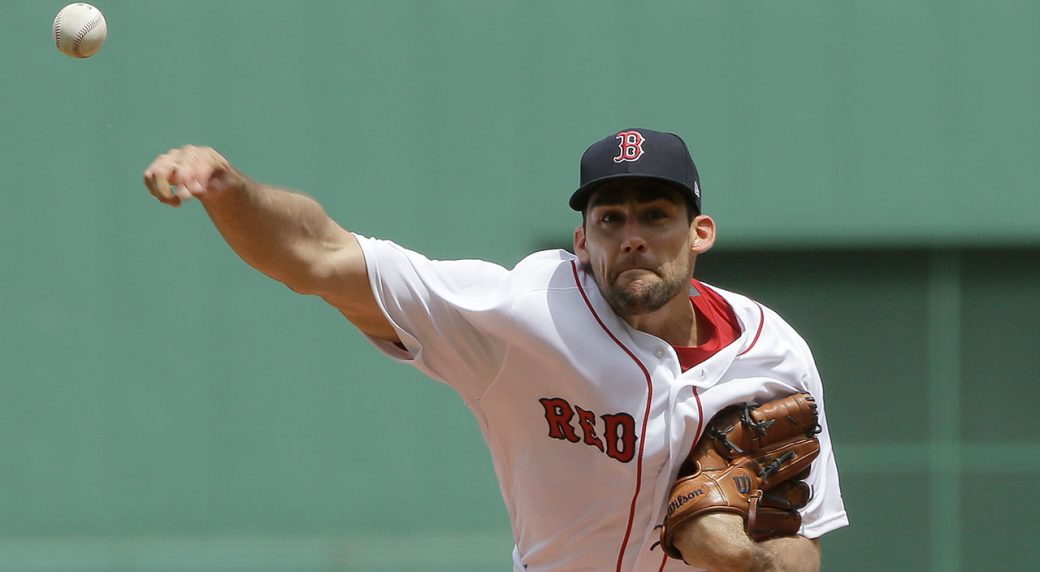 best website 43daa d5d80 Nathan Eovaldi sharp in Red Sox debut; Boston beats Twins ...