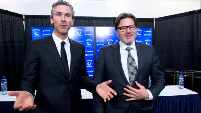 trevor-linden-with-vancouver-canucks-owner-Francesco-Aquilini-at-press-conference