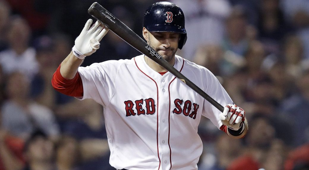 new arrival be836 feebb Red Sox slugger J.D. Martinez scratched with back spasms ...