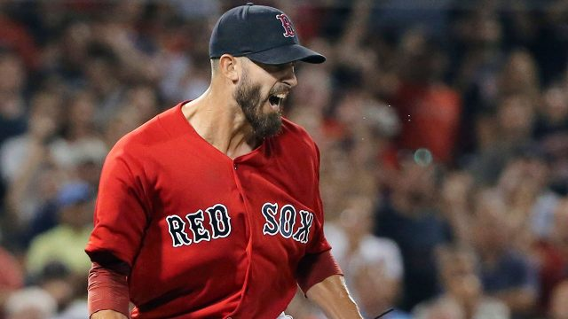 MLB-Red-Sox-Porcello-celebrates-during-game-against-Yankees