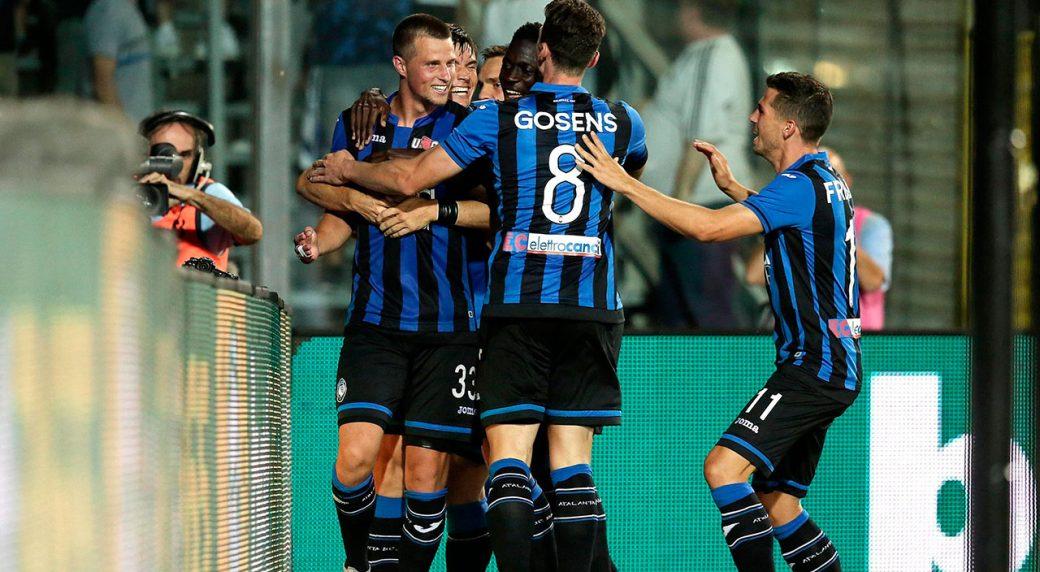 Soccer-Atalanta-celebrates-goal-during-Serie-A-match