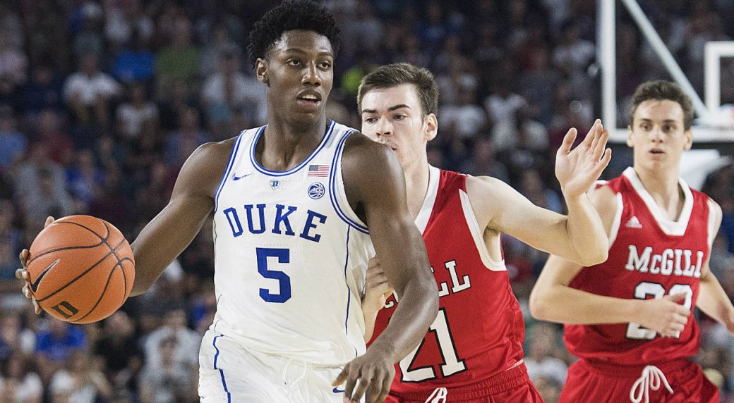 new product 7f372 2c21c Canada's R.J. Barrett has 33 points but No. 1 Duke falls to ...