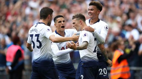 tottenhams-kieran-trippier-celebrates-goal-with-teammates