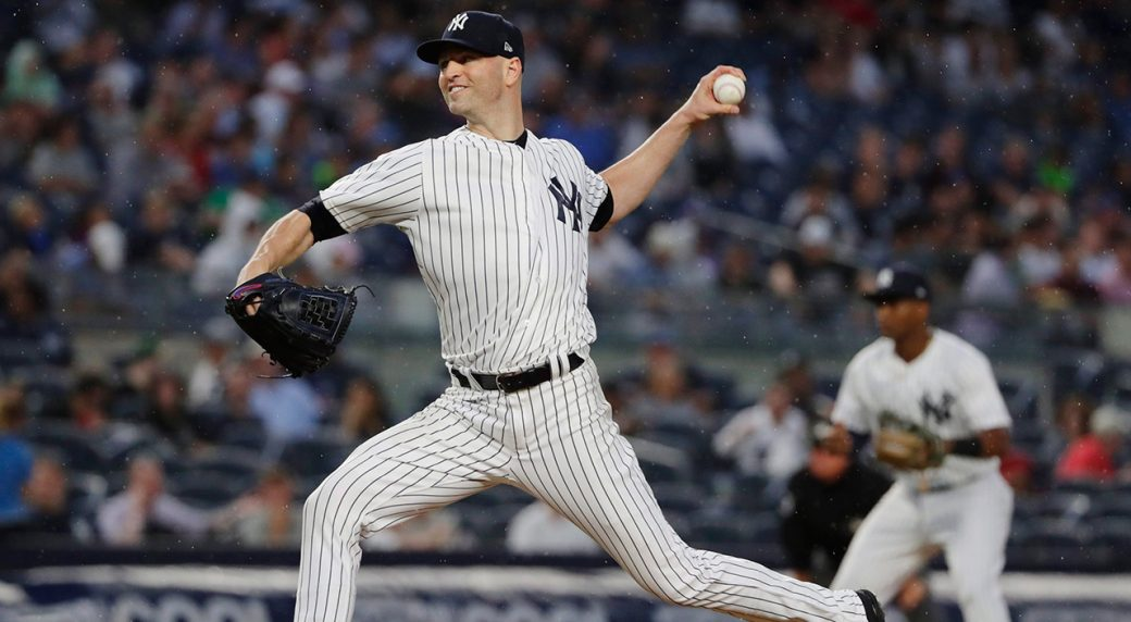 best service cf717 bdbe8 Report: Four teams join Blue Jays, Yankees in J.A. Happ ...
