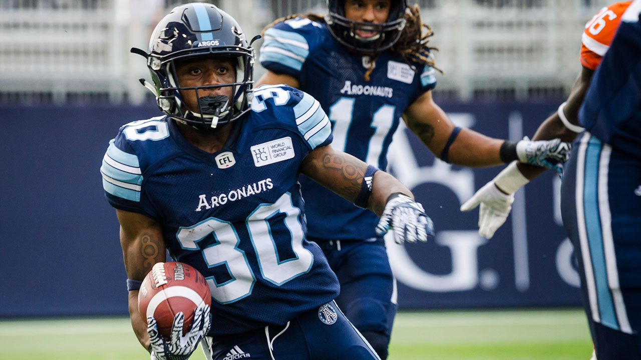 CFL-Argonauts-Martese-Jackson-running-against-Lions
