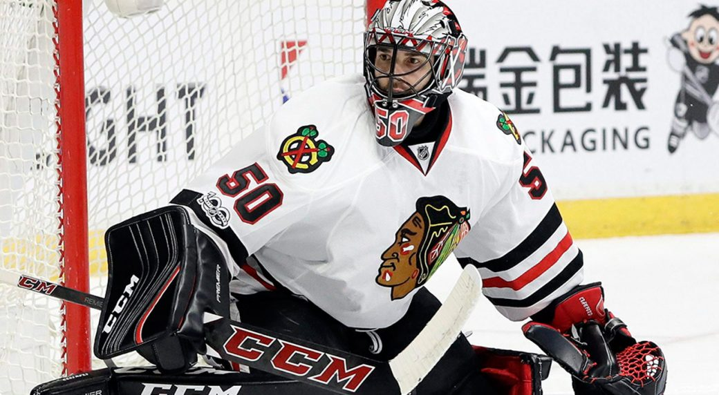 Blackhawks not re-signing veteran goaltender Corey Crawford