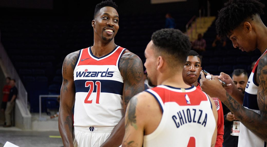 sports shoes a9e0a 842ad Report: Wizards' Dwight Howard being treated for butt injury ...