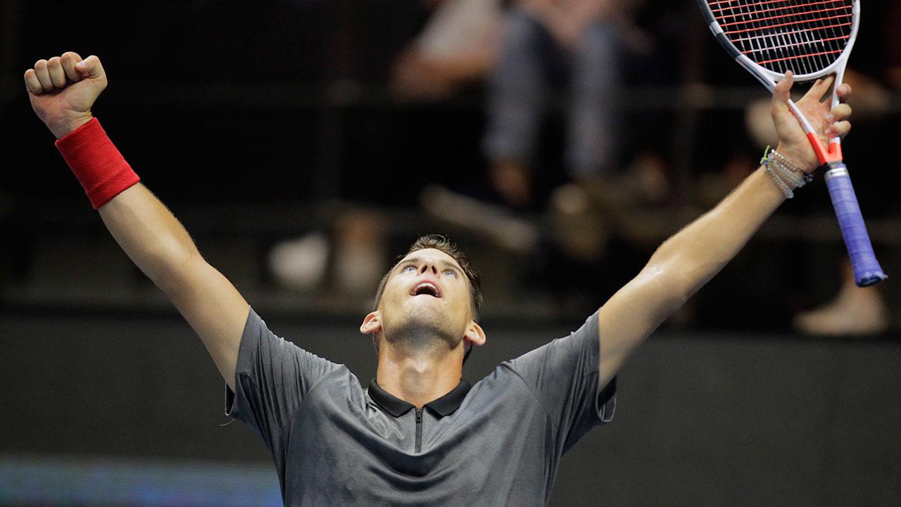 Tennis-Thiem-celebrates-win-over-Klizan