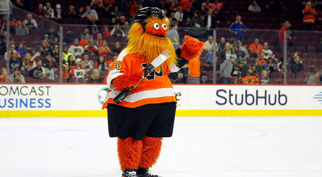 Philadelphia Flyers mascot Gritty accused of punching boy during photo shoot