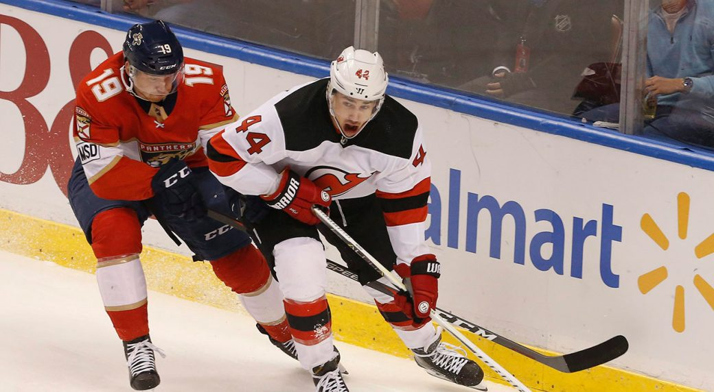 big sale c974b 28373 Devils re-sign forward Miles Wood to four-year deal ...