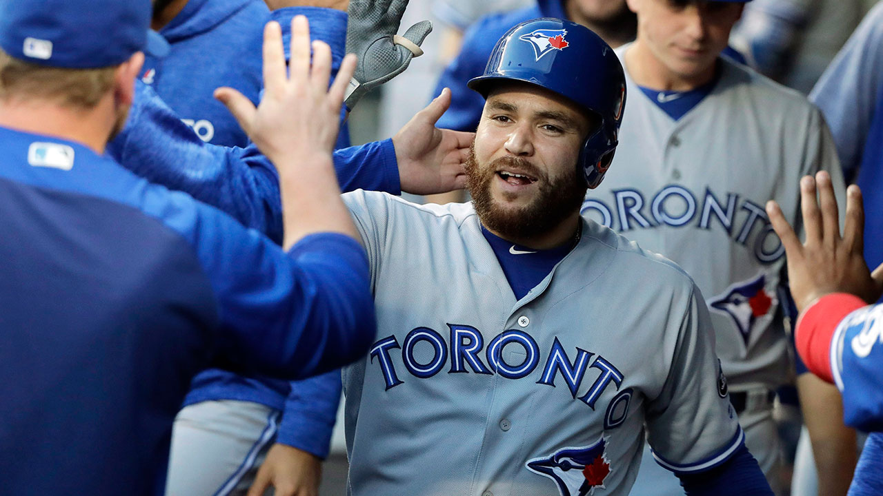 russell_martin_celebrates_in_the_dugout