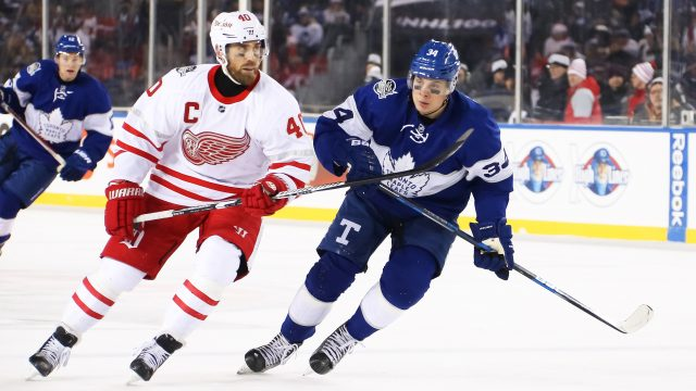 Auston-Matthews;-Henrik-Zetterberg;-Toronto-Maple-Leafs;-Detroit-Red-Wings