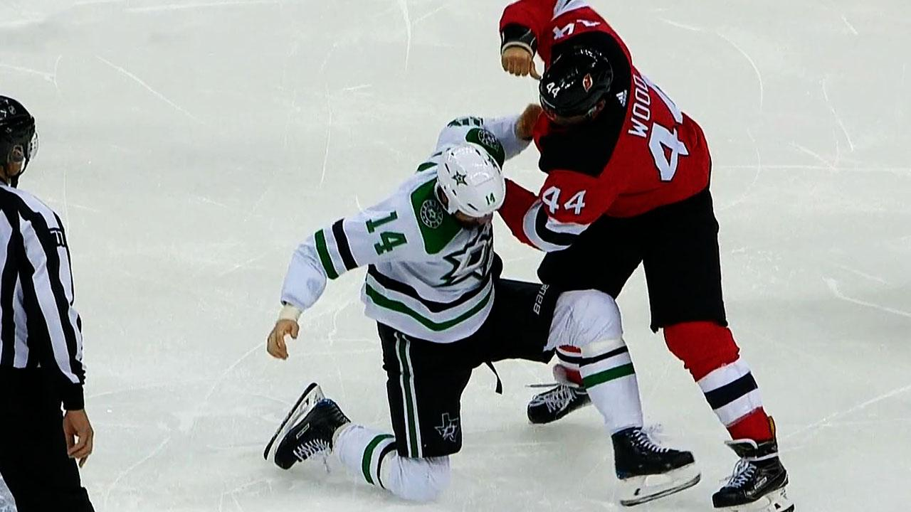 info for 8f222 269b1 Jamie Benn & Miles Wood engage in old-school fisticuffs ...