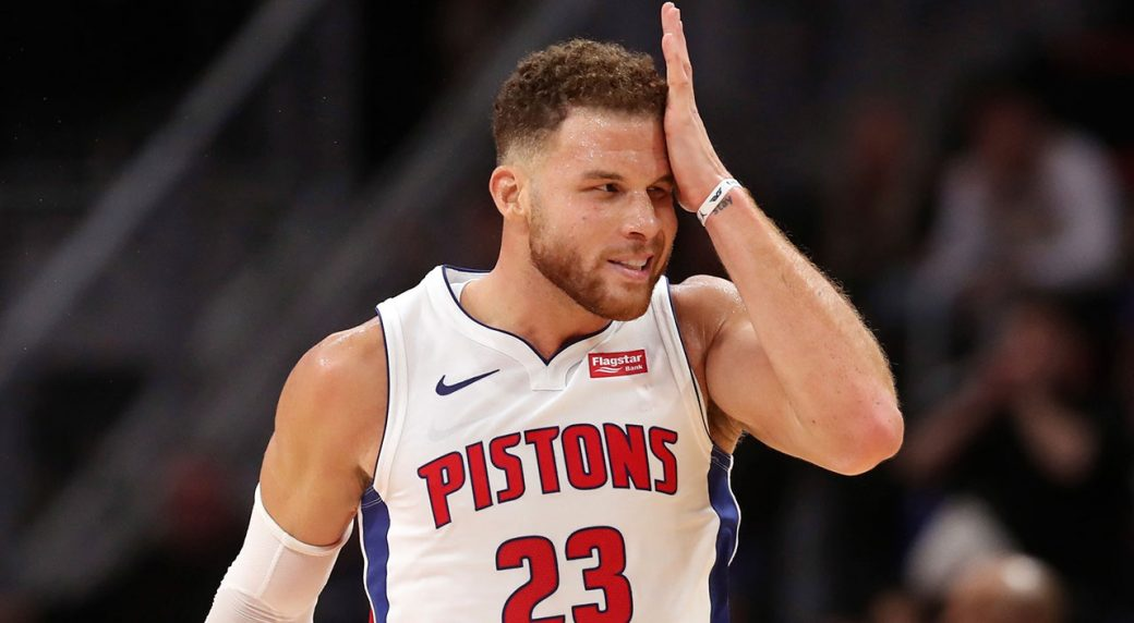 NBA-Pistons-Griffin-reacts-after-basket-against-76ers