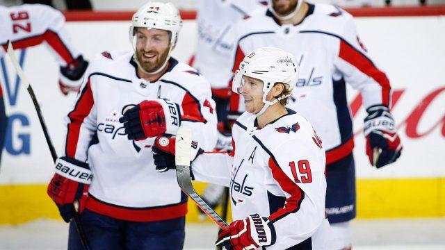 NHL-Backstrom-celebrates-winning-goal-against-Flames