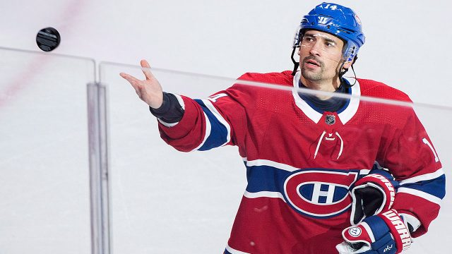 NHL-Canadiens-Plekanec-after-1000th-career-game