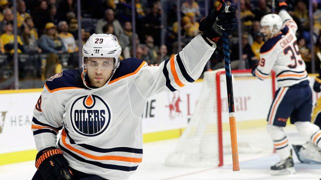 NHL-Draisaitl-celebrates-goal-against-Predators