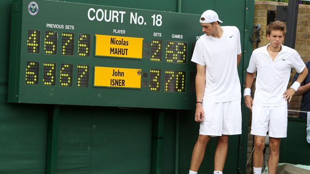 Tennis-Wimbledon-Isner-Mahut