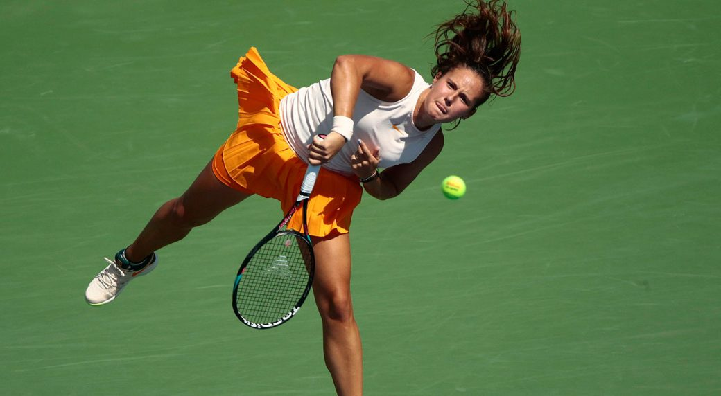 WTA-Kasatkina-serves-at-US-Open