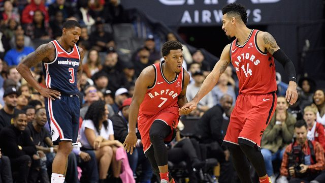 kyle_lowry_celebrates_a_three_pointer_as_bradley_beal_looks_dejected