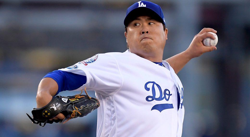 MLB-Dodgers-Ryu-pitching
