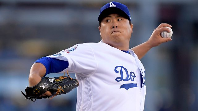 MLB-Dodgers-Ryu-pitching