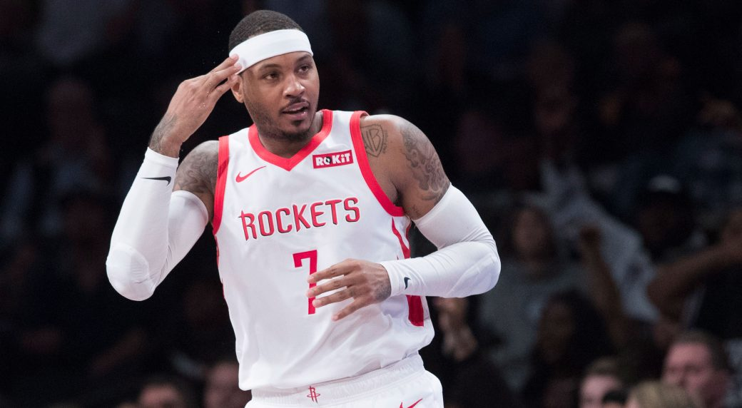 The long-awaited reaction to Carmelo Anthony's return to the National Basketball Association