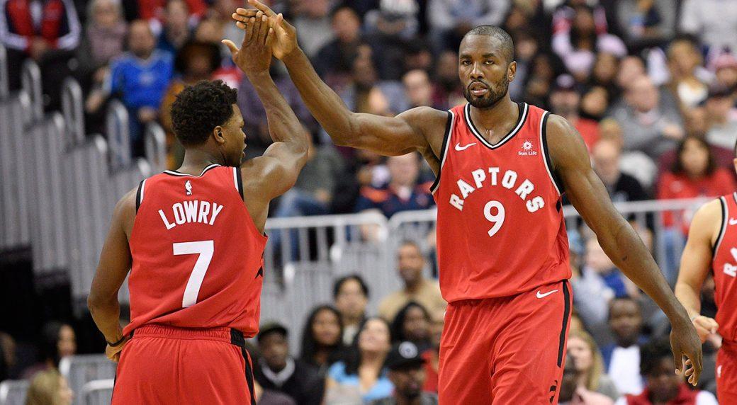Raptors' Ibaka doubtful vs. 76ers with ankle injury