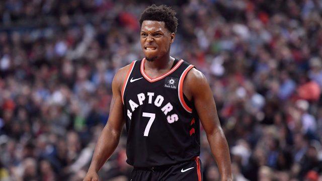 NBA-Raptors-Lowry-reacts-after-shot-against-Pelicans