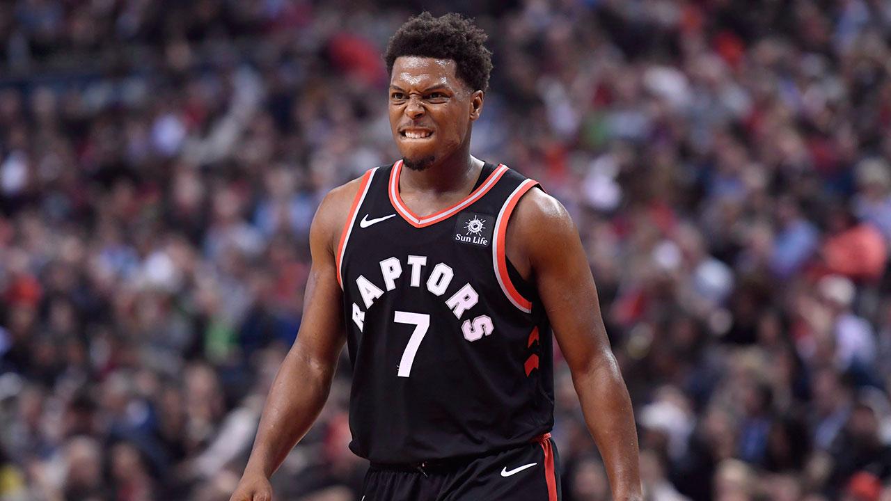 NBA-Raptors-Lowry-reacts-after-shot-against-Pelicans