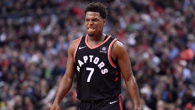NBA-Raptors-Lowry-reacts-against-Pelicans