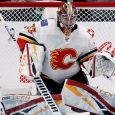 NHL-Flames-Rittich-makes-save-against-Kings