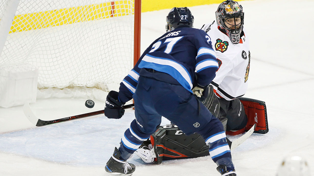 detailed look 8a899 f9d0f Ehlers' hat trick, Laine's two goals lead Jets past ...