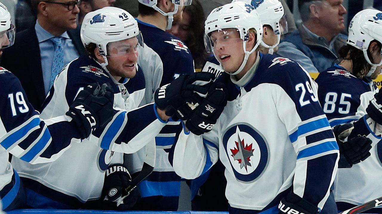 NHL-Jets-Laine-celebrates-goal-against-Blues