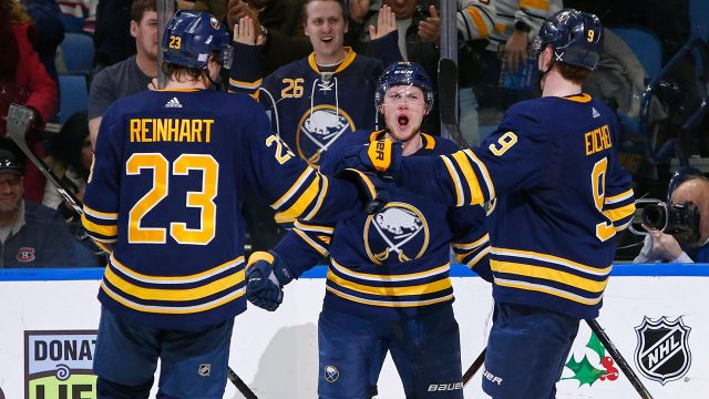 NHL-Sabres-celebrate-goal-against-Canadiens