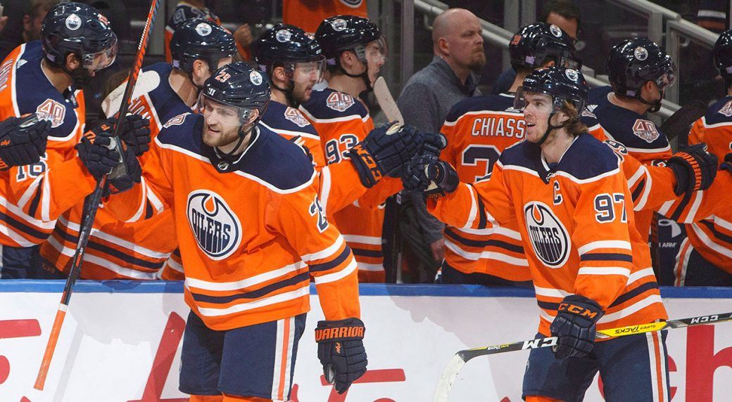 leon-draisaitl-and-connor-mcdavid-celebrate-a-goal
