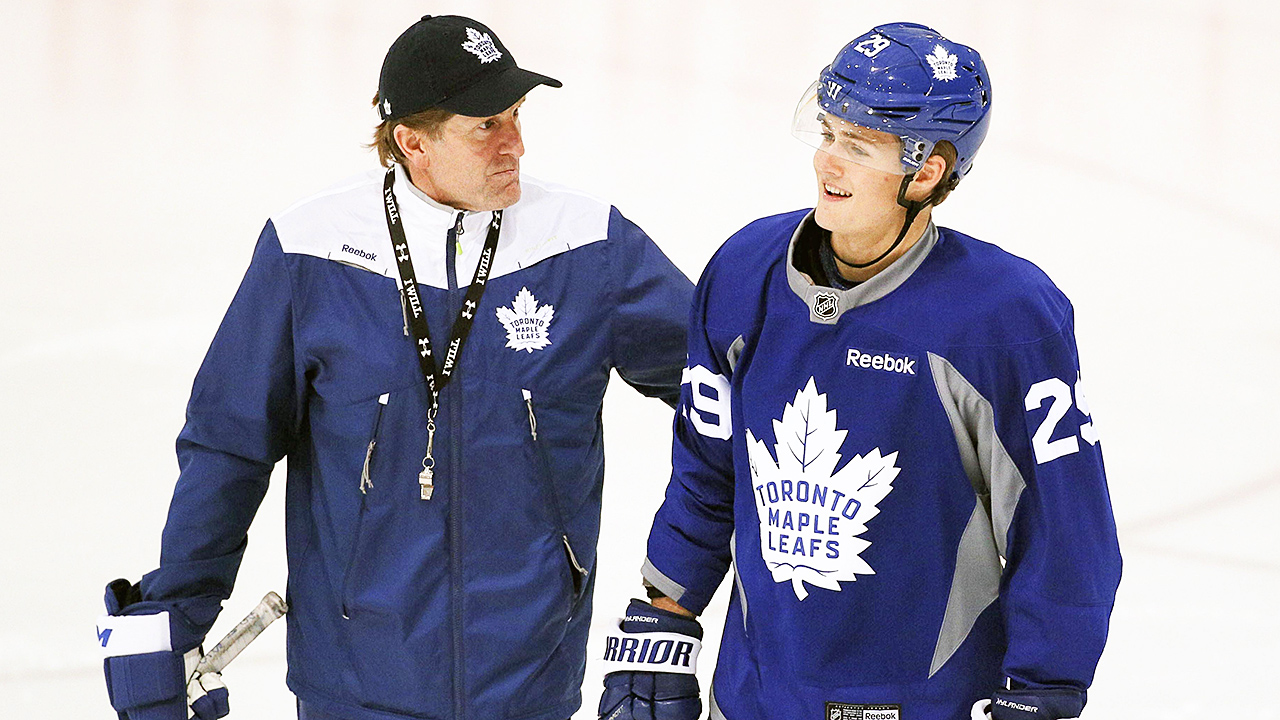 Mike-Babcock;-William-Nylander;-Maple-Leafs