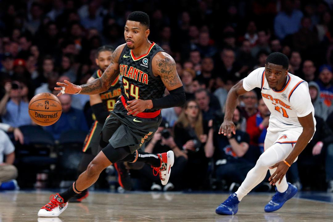 7 players score in double-figures as Hawks down Knicks