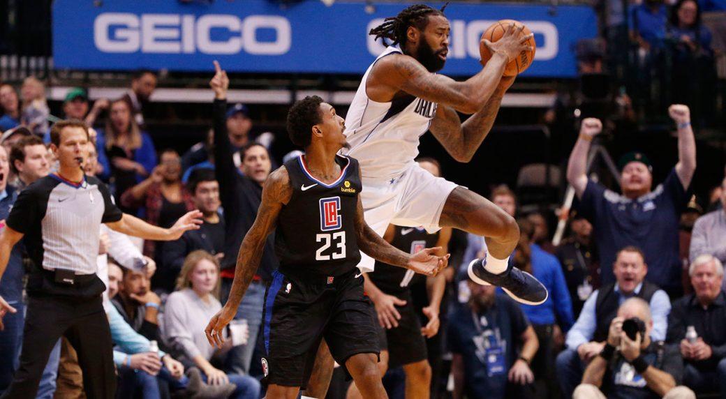 best loved 8847c 9fe54 DeAndre Jordan grabs 23 rebounds as Mavericks beat Clippers ...