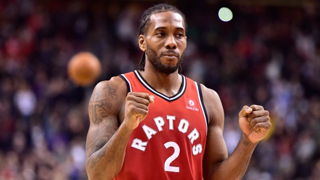 NBA-Raptors-Kawhi-Leonard-celebrates-shot-against-Pacers